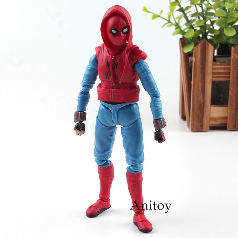 Marvel Figure Spider-Man Homecoming Spiderman Action Figure Homemade Suit Ver. S.H.Figuarts Toy 14cm