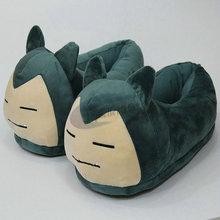 Women Anime Cartoon Pokemon Slippers Elf-Ball Pikachu Eevee Umbreon Pokemon Go Plush Shoes Home House Winter Slippers Children