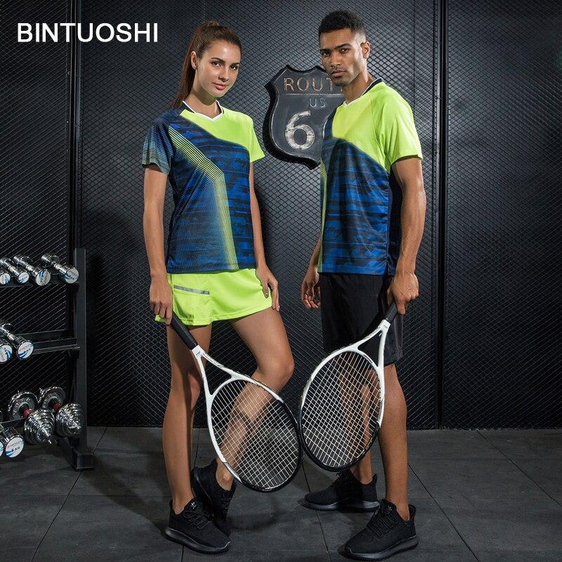 2019 Mode Bintuoshi Frauen/herren Tennis Shirts + Shorts/rock Badminton Tischtennis Kleidung Atmungsaktiv Bequeme Sport Kleidung Set Gute WäRmeerhaltung