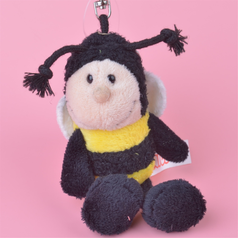 3 Pcs Honey Bee Small Plush Pendant Toy, Kids Doll Keychain / Keyholder Gift Free Shipping