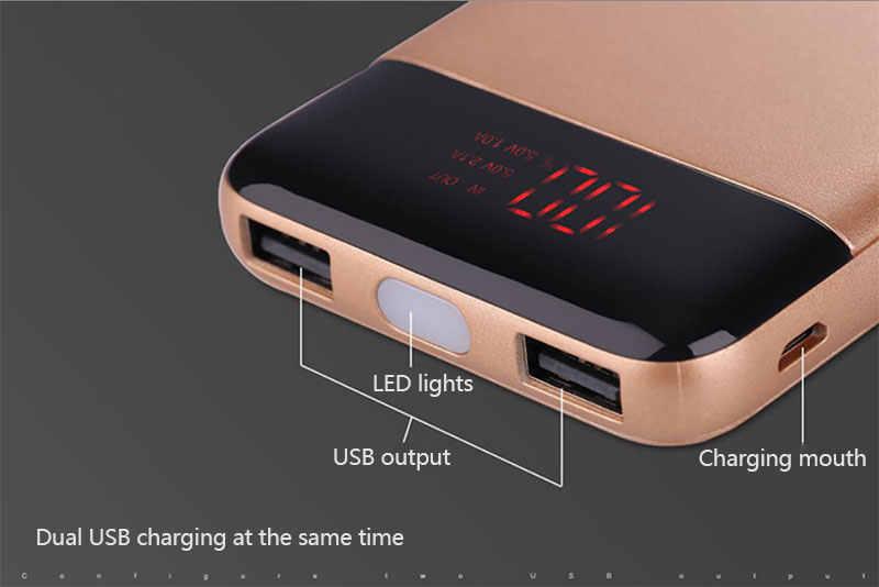 30000mah قوة البنك بطارية خارجية PoverBank 2 USB LED تجدد Powerbank المحمولة الهاتف المحمول شاحن هواتف xiaomi iphone هواوي
