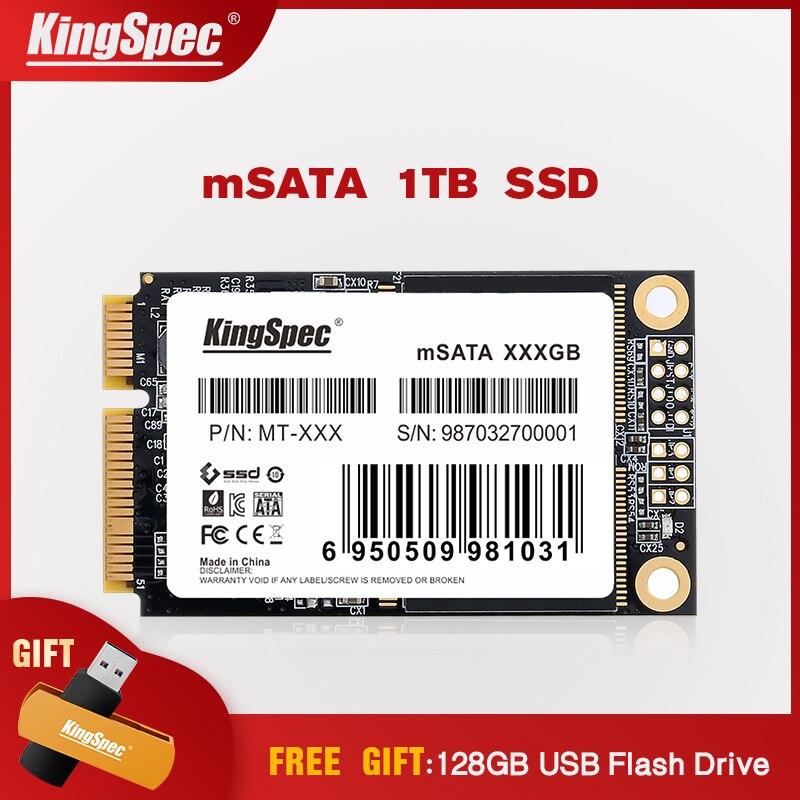1 to KingSpec SSD mSATA grande capacité interne lecteur à semi-conducteurs Flash MLC MT-1TB pour tablette Ultrabook ordinateur portable ordinateur portable serveur PC