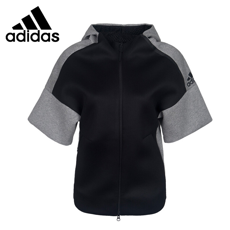 Original New Arrival 2017 Adidas ZNE SS HOOD REC Women's   jacket Hooded  Sportswear