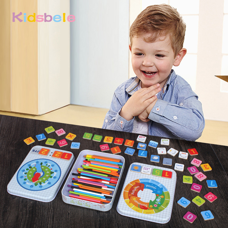 Baby Educational Toys Multifunctional Digital Box Montessori Toys Learning Education Math Toys Mathematics For Children montessori educational wooden toys for children preschool alphabet classification box math car abacus learning baby boy girl kid
