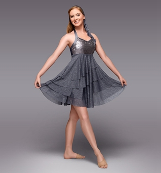 Foreign trade children's professional modern dance sequins dress costumes