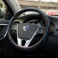 38cm Genuine Leather Car Steering Wheel Cover For Volvo C30 S40 S60 S80 V40 V50 V60