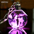 XINTOU Round LED Customized Mini Keychain DIY Foto Laser Engraved Cadre Photo Crafts Souvenirs Wedding Favors and Gifts Supplies