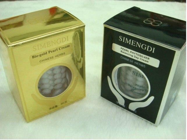 Original SIMENGDI Phyto Silver Balancing Day Pearl Cream Bio Gold Pearl Cream Moisturizing reduce wrinkles Chinese