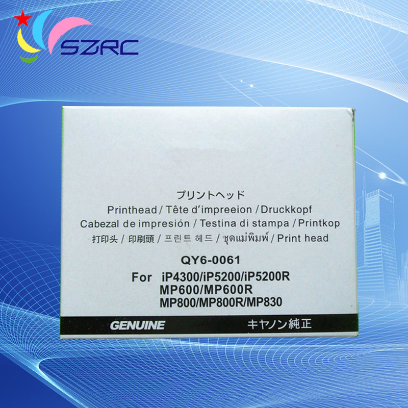 Original Print head QY6-0061 Printhead Compatible For Canon iP4300 iP5200 iP5200R MP600 MP600R MP800 MP800R MP830 Printer head high quality original print head qy6 0057 printhead compatible for canon ip5000 ip5000r printer head