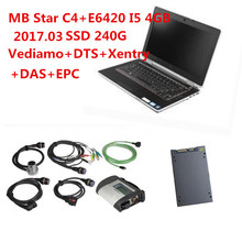 Best Quality E6420( I5 4GB)+Good MB Star C4+2017.07 Software Win7 Vediamo+DTS+Xentry+DAS Star Diagnosis C4 Tool DHL Free