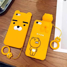 3D Silicone Soft Cartoon Case For iPhone X 6 6s 7 8 Plus Korean Ryan Phone Cases For iPhone 6 6s Plus Cover Case Cute Cartoon(United States)