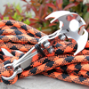 Outdoor Stainless Steel Car Traction Camping EDC Tool Gravity Hook Carabiner Key Chain Magnet Foldable Grappling