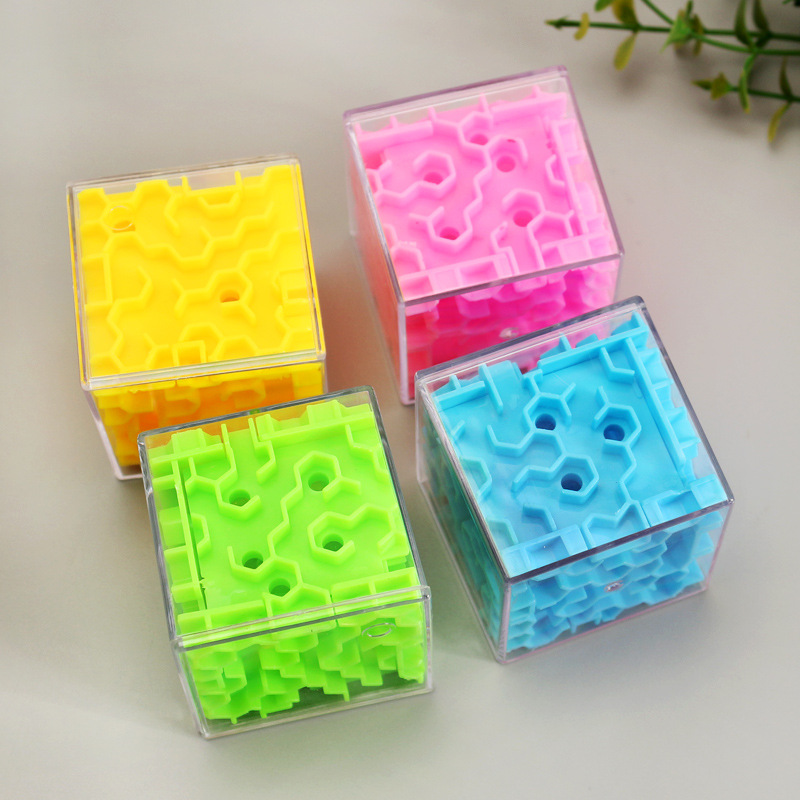 KIds Educational Toy Plastic Magical 3d Maze Magic Cube Labyrinth Rolling Toys For Kids Children Puzzle Maze Ball Game in Magic Cubes from Toys Hobbies