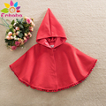 Enbaba girls wool winter coats girls outerwear red christmas warm snow hooded cloak cape coats pancho baby jacket girl clothing