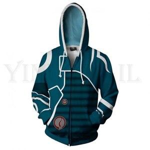 Anime Magic Sweatshirts Men and Women Blue Zipper Hoodies Chandra 3d Print Hooded Jacket for Boys Harajuku Streetwear Cosplay