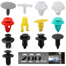 200Pcs Universal Mixed Clips For Toyota Corolla Avensis Yaris Rav4 Auris Prius Prado Camry Celica Fortuner Venza Highlander