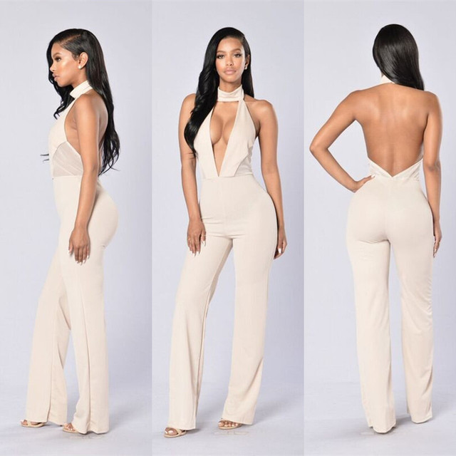 2017 Summer New Women Overalls Sexy Bodysuit Night Club Rompers
