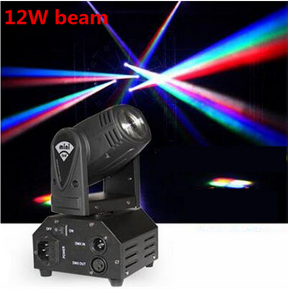 CREE Led 12w Moving Head Spot Effect Light Mini Lighting DJ KTV Disco Beam Lights RGBW 4in1 4pcs lot 30w led gobo moving head light led spot light ktv disco dj lighting dmx512 stage effect lights 30w led patterns lamp