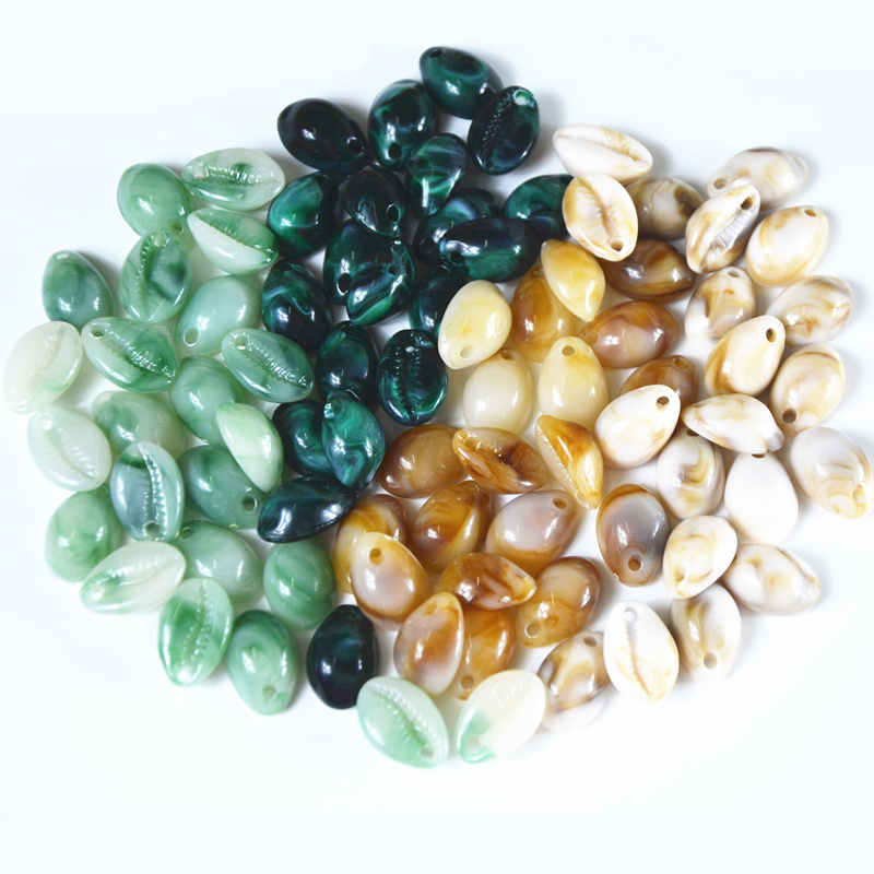 Fashion Jewelry 4 Colors 20Pcs/lot Shell Acrylic DIY Necklace Bracelet Earring Jewelry Making Accessories For Manual