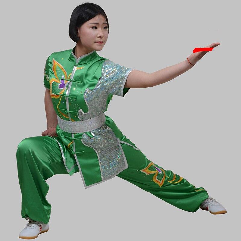 Nanquan uniforme Wushu costume pour la Performance Wushu pour les femmes aile Chun chinois Kung Fu costume Performance vêtements Tai Chi uniforme