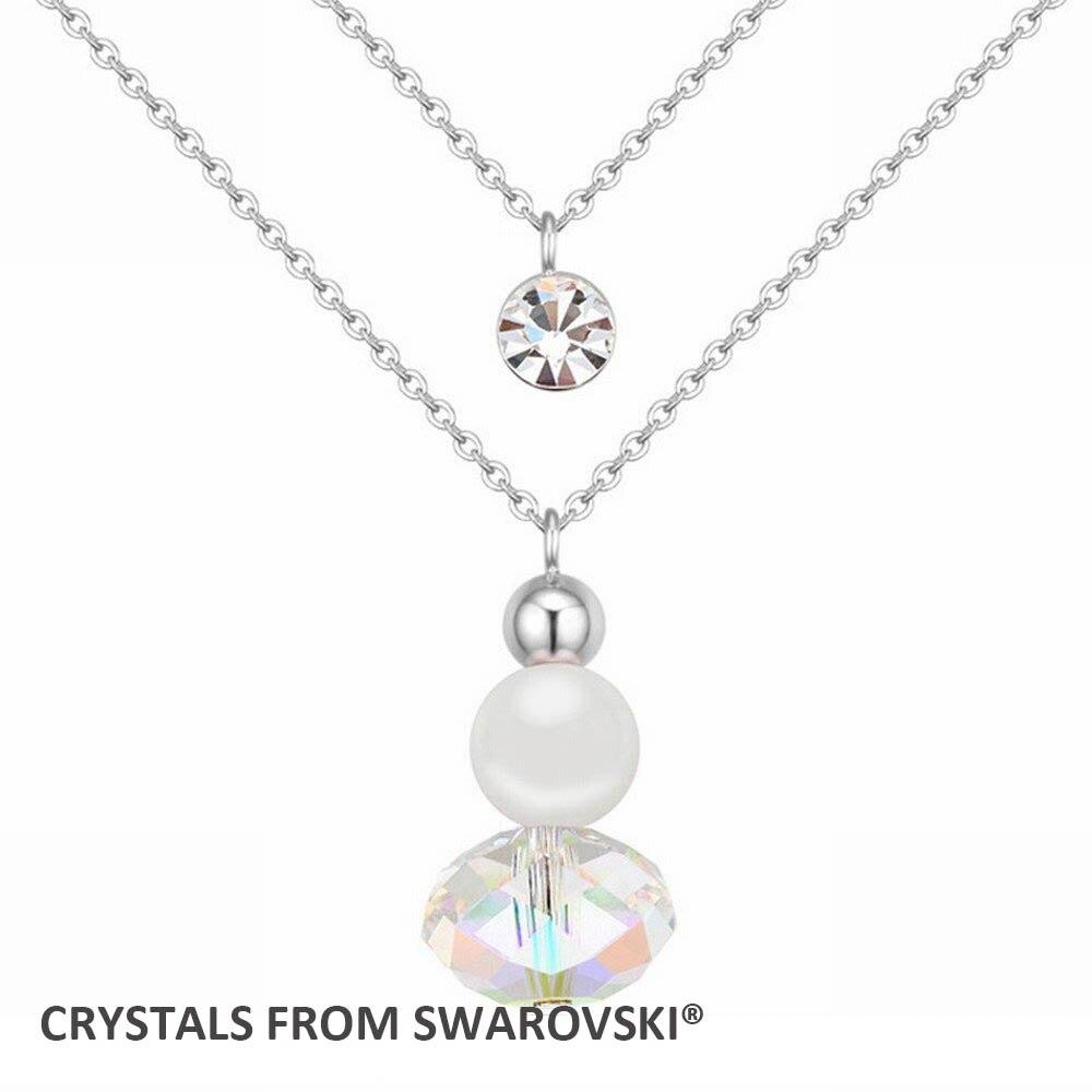 2d6b61e36e7e3 2015 Classic 3 cores Pérola   colar de pingente de cristal Com Cristais de  SWAROVSKI para presente Dia Dos Namorados