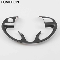 TOMEFON Interior For Mitsubishi Outlander 2016 2017 Steering Wheel Decoration Cover Car Trims Styling ABS Original Plant Lines