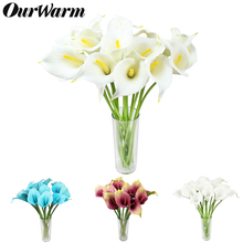 12Pcs/lot Multicolors Decorative Artificial Flower  Real Touch Calla Lily for Wedding Bouquet Bridal Party Home Decoration