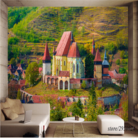 Wallpapers YOUMAN Photo Wallpaper Murals Customize Romania Castle 3d Photo Wall Paper Embossed Study Kitchen Interior Wallpaper
