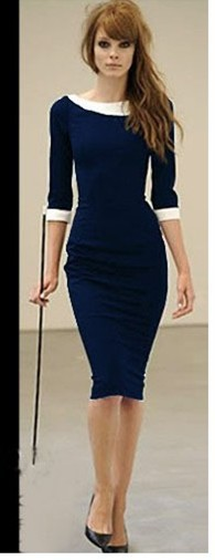 2014 new womens midi bodycon business pencil dress