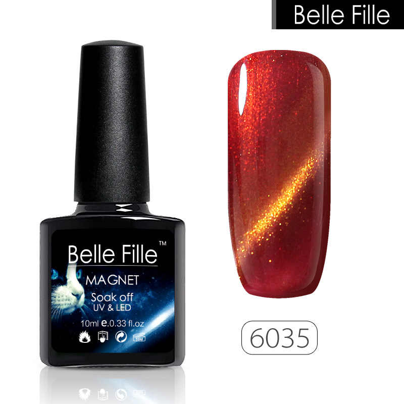 06c259dadd BELLE FILLE Cat Eye Gel Nail Polish UV 10ml 3D Bling LED Cat Eye Gel Polish  Pink Varnish Gel For Nails Semi Permanent Polish