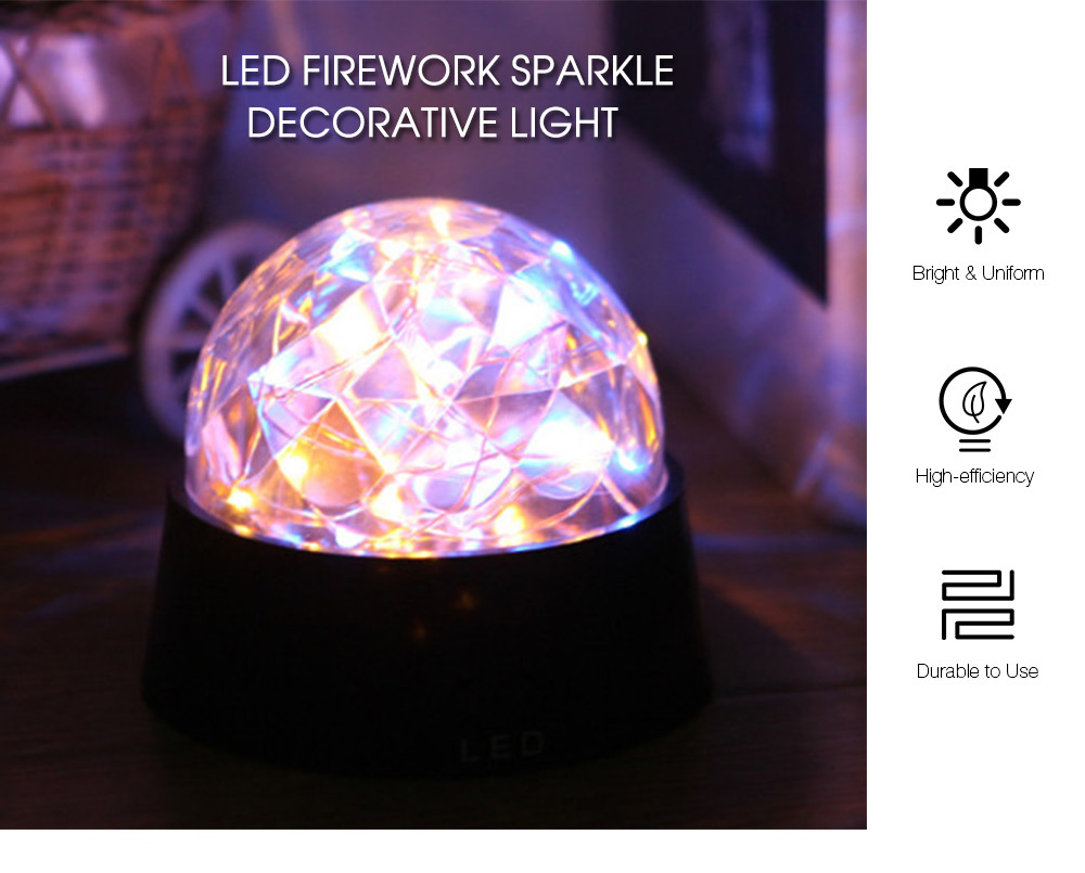 New Romantic Led Firework Starry Light Copper Wire Crystal Ball Wiring A Lamp With Night Table Decor For Party Wedding Holiday Gift