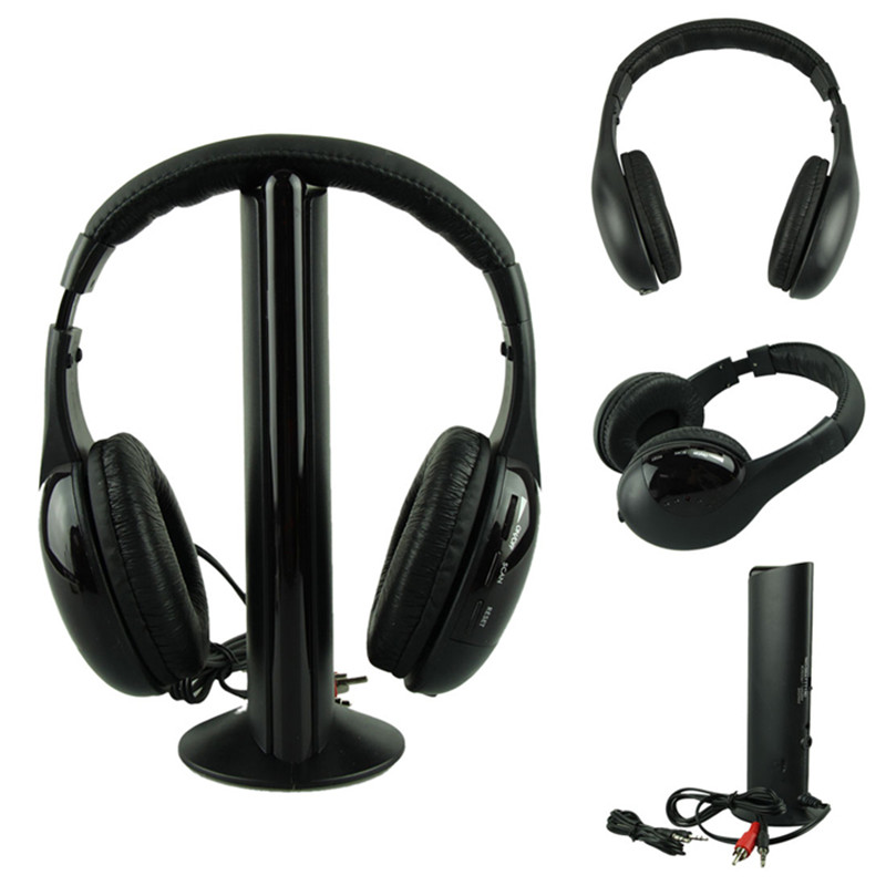 Best Prezzo Cuffie HOT 5IN1 Cuffia Senza Fili Casque Audio Sans Fil Ecouteur Hi-Fi Radio FM TV MP3 MP4 di alta qualità