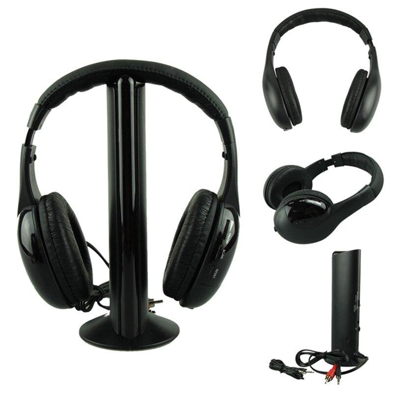 Beste Preis Kopfhörer HEIßER 5IN1 Drahtlose Kopfhörer Casque Audio Sans Fil Écouteur Hallo-fi Radio FM TV MP3 MP4 top qualität