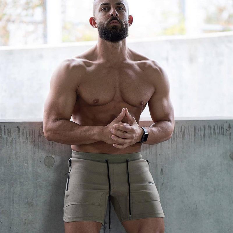HETUAF 2019 New  Mens ECHT Sporting Casual Shorts Cotton Bodybuilding Sweatpants Fitness Short Jogger Casual Gyms Men Shorts