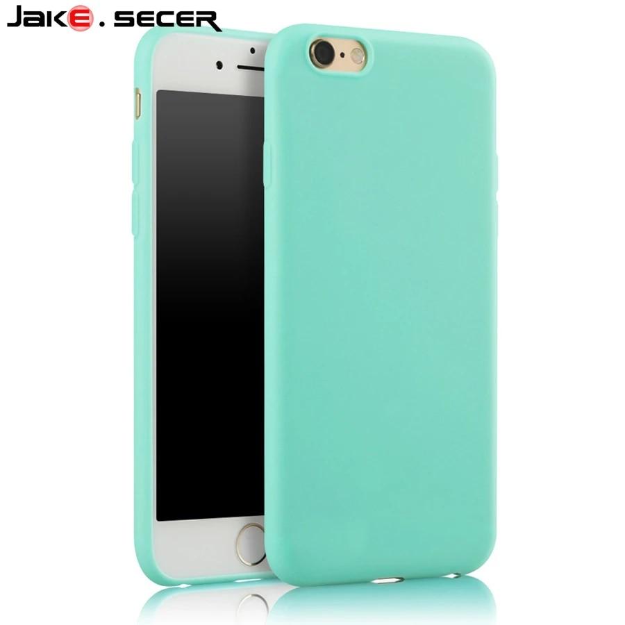 Pour Apple iphone 5S Housse Silicone Meilleur De Protection Mince Pas Cher Vert doux Coque Fundas Cas pour iphone 5 6 s SE 6 s 7 Plus