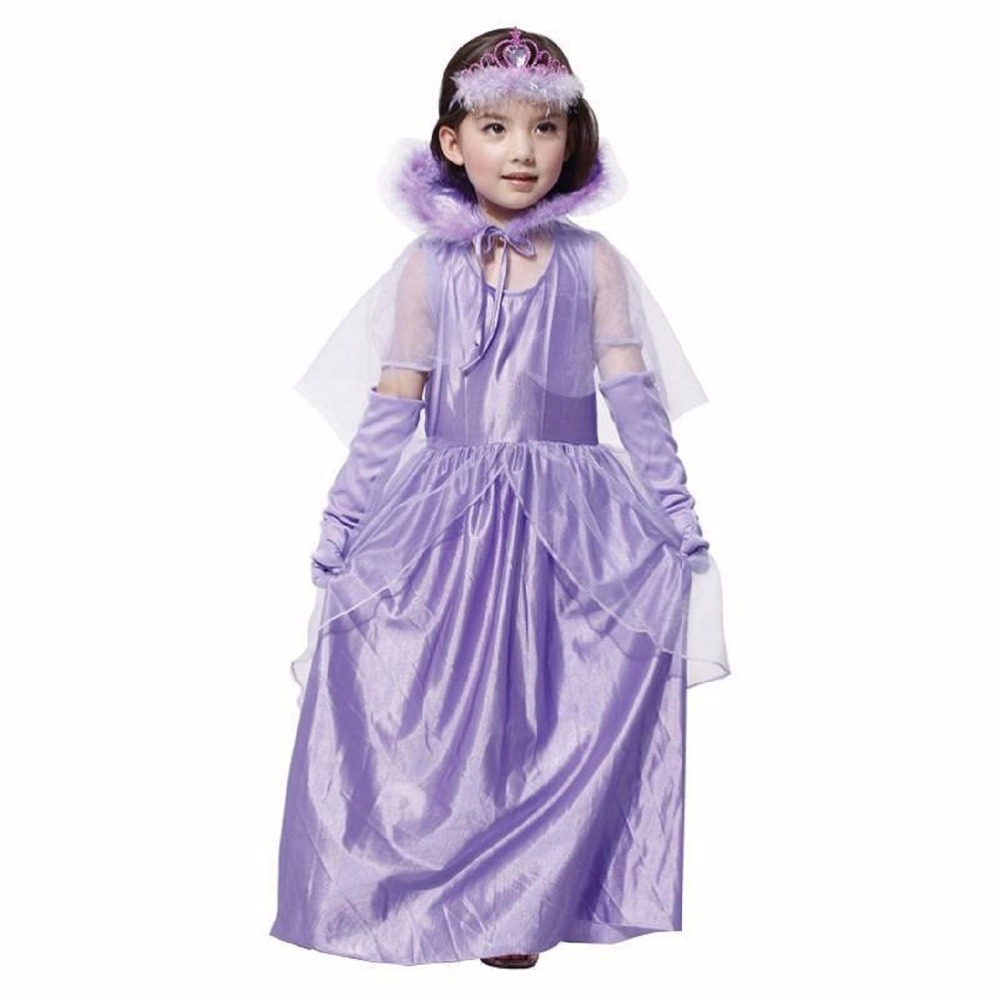 New Girls Cinderella Dresses Children Snow White Princess Dresses Cosplay Costume Rapunzel Aurora Kids Party Halloween Costume