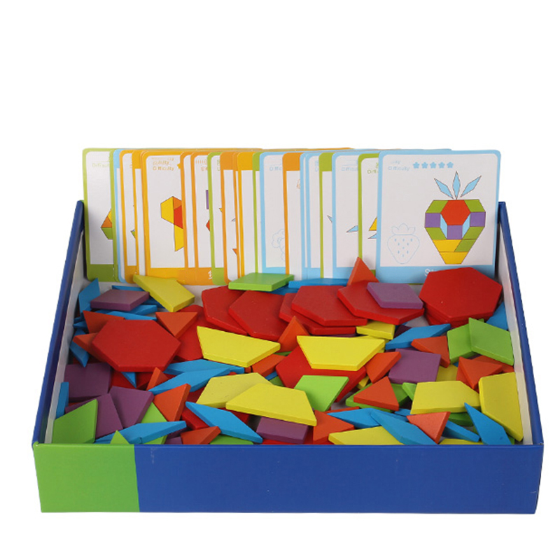 цена на Montessori Educational 130 PCS Wooden Puzzle Games Toys For Children Jigsaw Puzzle Learning Wood Developing Toys