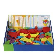 Монтессори 130 шт. деревянный пазл игры игрушки для детей головоломки обучения деревянные развивающие игрушки