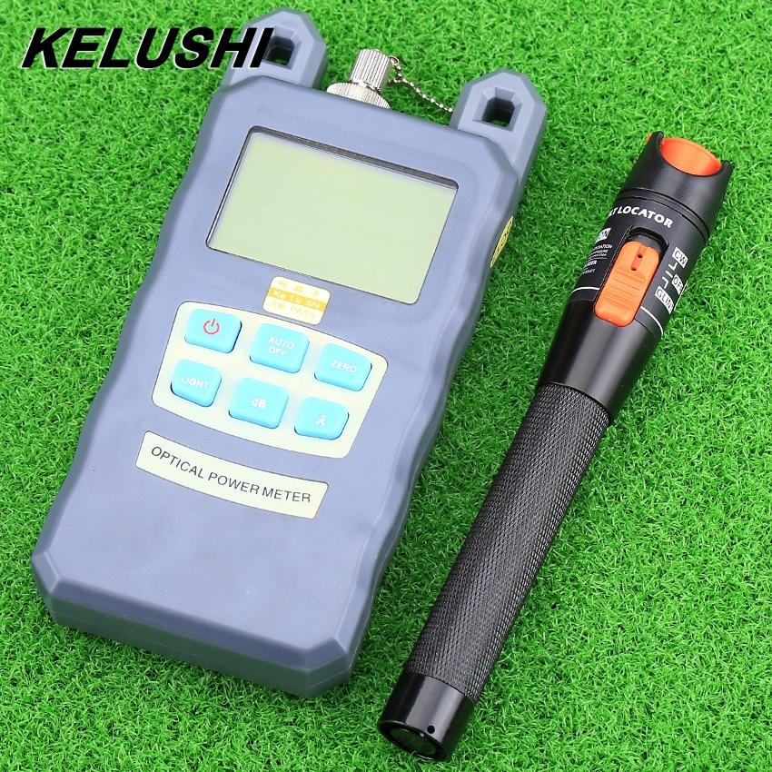 KELUSHI FTTH Fiber Optique Outil Power Meter-70 ~ 10dBm avec FC/SC Adaptateur et 10 mw Visuelle localisateur Câble Optique Testeur