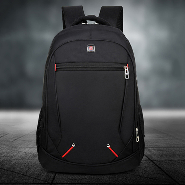 Casual Solid Color Material Oxford Man's Backpack Multi-functional Large-capacity Student Schoolbag Simple Bag 2