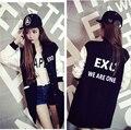 EXO kpop концерт студент плюс бархатные одежды куртка бейсбол k-pop Вскользь Толстовки пальто женщины однобортный Кофты пальто