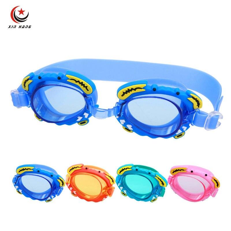 Děti profesionální plavecké brýle vodotěsné Anti-fog UV ochrana plavat brýle pro chlapce Dívky děti kreslený bazén brýle