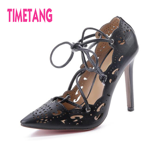 33a7882b7 TIMETANG-for-Women-Shoes-2018-Classic-Pointed-Toe-Retro-Cutouts-High-Thin- Heel-Ankle-Strap-Lace.jpg_640x640.jpg