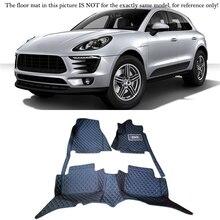 Nouveau!!! pour Porsche Macan 2014 2015 2016 Voiture-Style!! Accessoires en cuir Intérieur Tapis Couverture Tapis de sol de Voiture Tapis de Sol