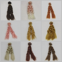 Dropshipping Promotion 15CM/25CM DIY Mini Tresses Doll Wig High-Temperature Material Curly Hair For BJD Accessories