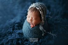 Newborn baby photography props,handmade knit mohair wrap for newborn photo props,baby soft blanket,wrap with matching hat