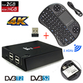 Original KII Pro Inteligente Android 5.1 Caixa De TV DVB-T2 DVB-S2 Amlogic S905 4 K Media Player 2G + 16G WIFI K2 PRO Set Top Box + i8 Keyboard