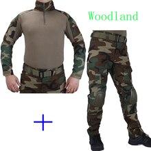 Chasse Camouflage Bois EDR uniforme de Combat chemise rencontré Broek en Coude et Genouillères militaire cosplay uniforme ghilliekostuum jacht