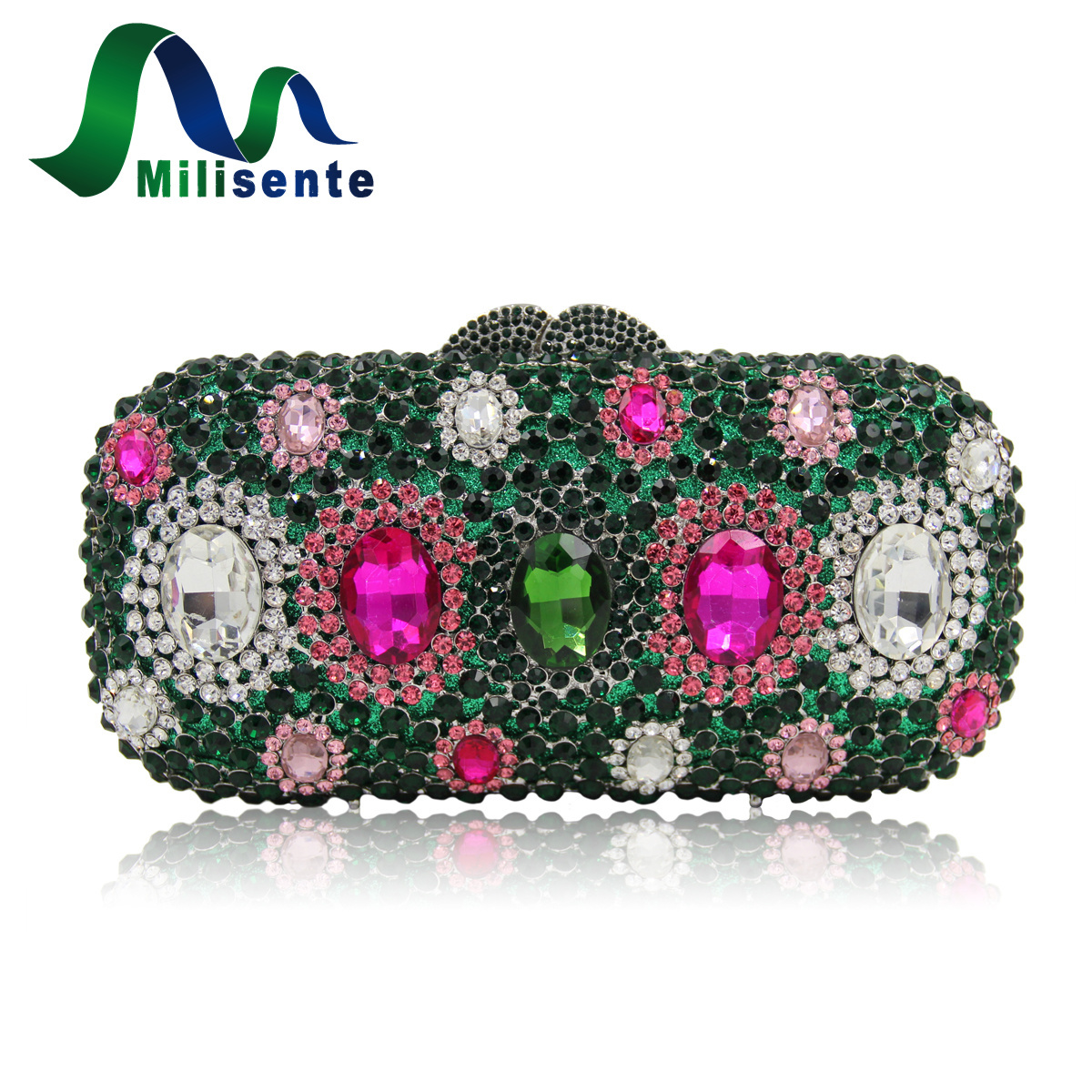 Milisente High Quality Women Evening Bag Female Handmade Crystal Party Bags Ladies New Designer Wedding Clutches Purse потолочная подвесная люстра коллекция champa 879067 хром черный lightstar лайтстар