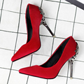 Flower Metal Heel Women Shoes Pumps Suede leather High Heels Women Pumps Mature Office Lady work pumps Spring/Autumn Party shoes